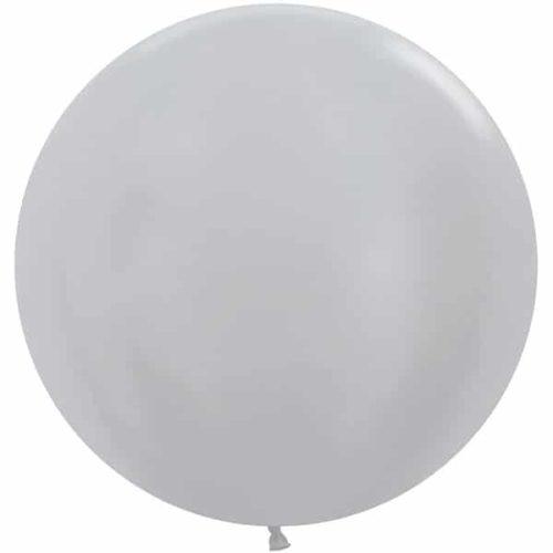 Шар 61 см Серебро Перламутр