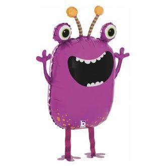 Шар 69 см Ходячая Фигура Веселый монстрик Фиолетовый