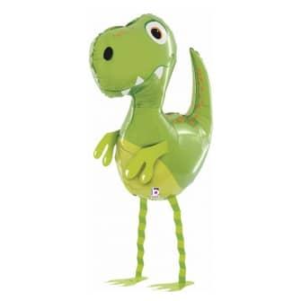 Шар 79 см Ходячая Фигура Маленький динозавр Зеленый