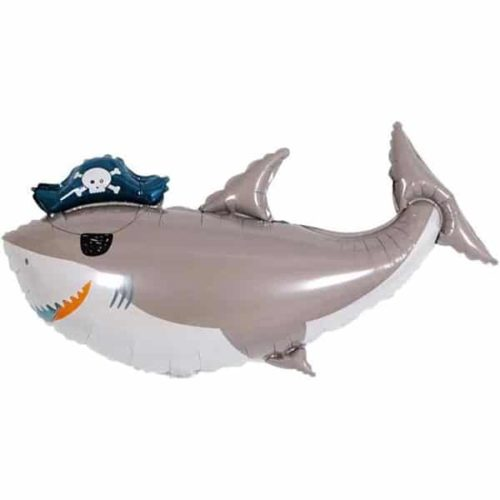 Шар 91 см Фигура Акула Пират повязка флибустьера