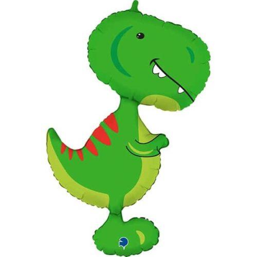 Шар 97 см Фигура Динозавр Тираннозавр Зеленый