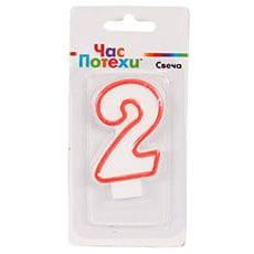 Свеча - цифра 2 Классик 6 см