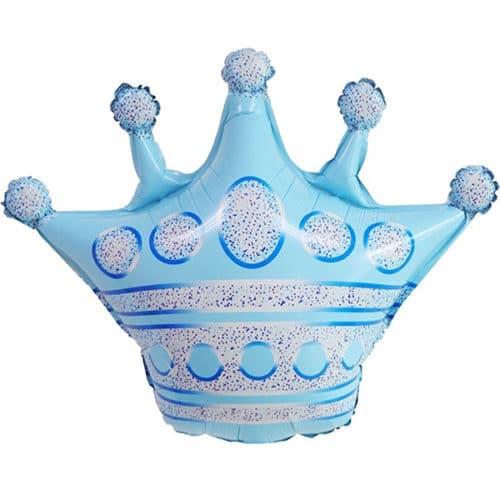 Шар 76 см Фигура Корона Голубой