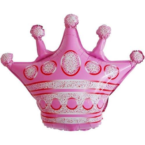 Шар 76 см Фигура Корона Розовый