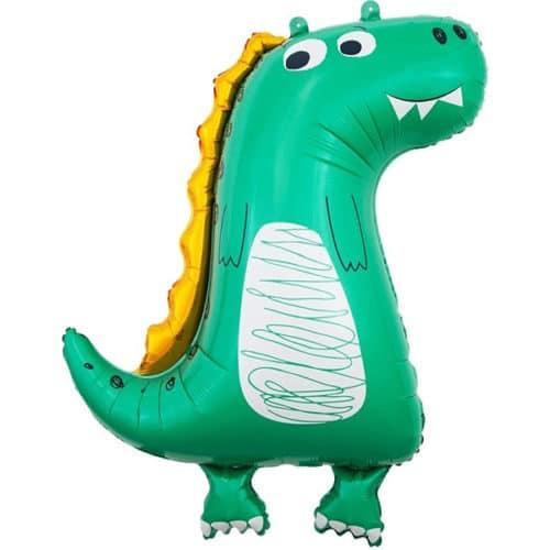 Шар 86 см Фигура Динозаврик Зеленый