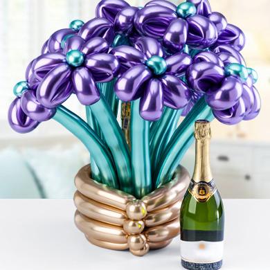 Букет ромашек из шаров Фиолетовые
