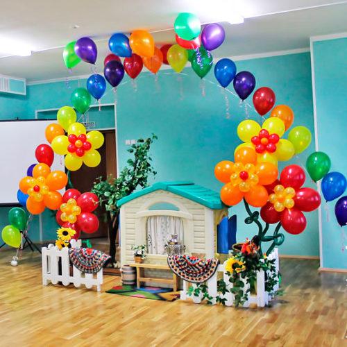 Комплект для оформления Детского сада Радуга и Цветы