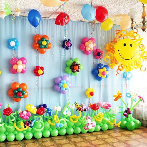 Комплект для оформления Детского сада Солнце Полянка и Цветы