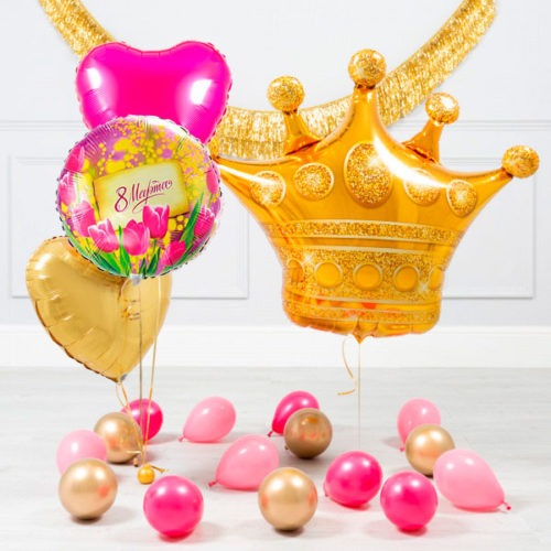 Комплект шаров Королеву с 8 марта