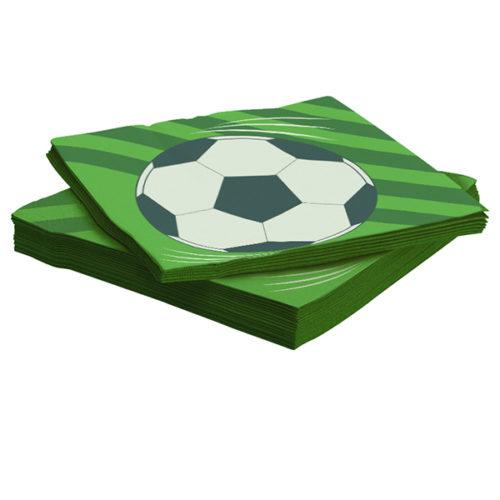 Салфетки 33 х 33 см Футбольный мяч 20 штук