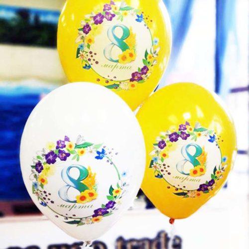 Связка из 3 шаров 8 марта