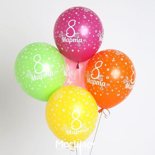 Связка из 4 шаров 8 марта