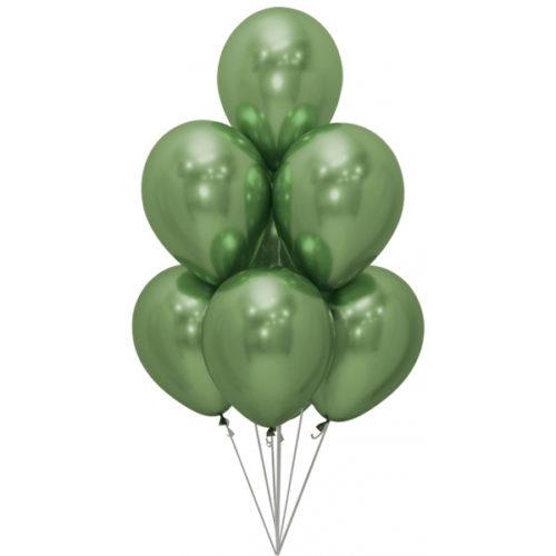 Связка из 7 шаров Зеленый Хром