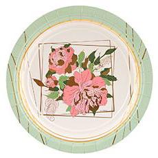 Тарелка 17 см Пионы 6 штук