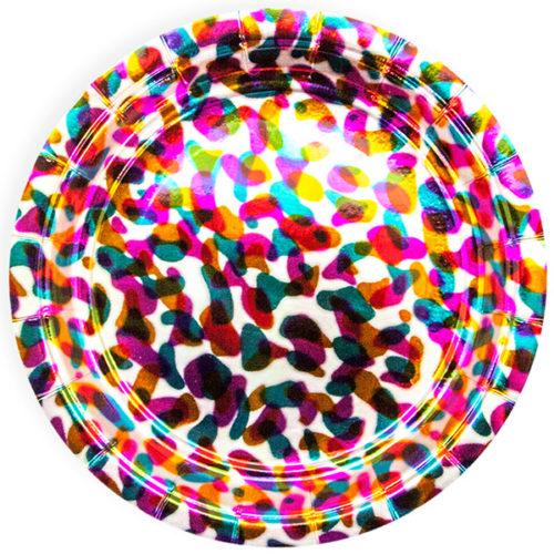 Тарелка 18 см Калейдоскоп Голография 6 штук