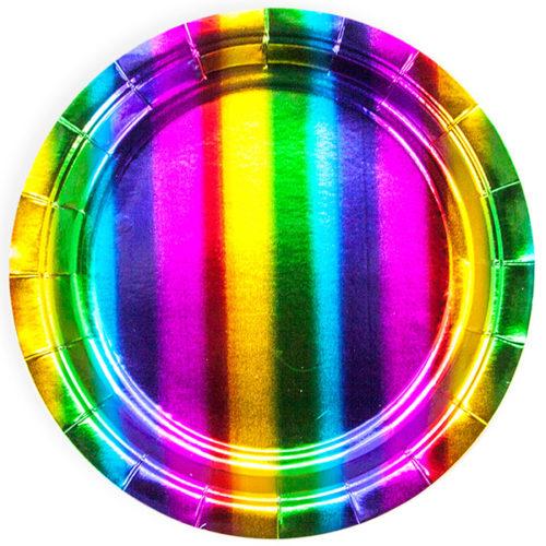 Тарелка 18 см Радужный Градиент 6 штук