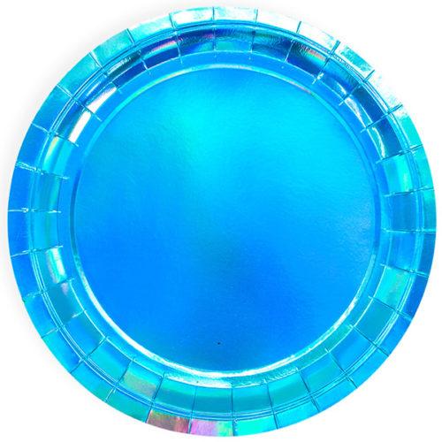 Тарелка 23 см Лазурный Голография 6 штук