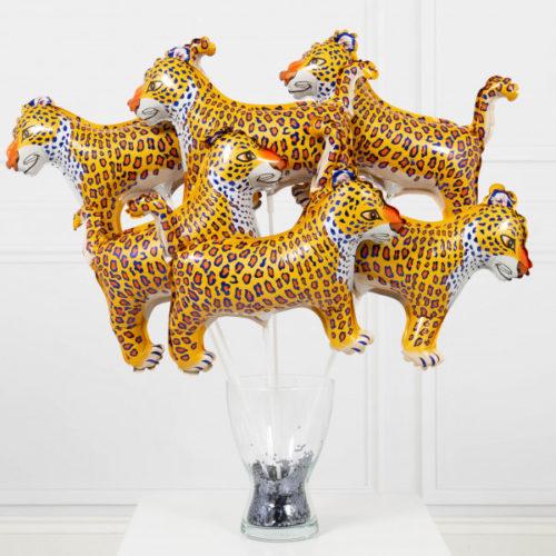 Шары на палочках Леопард 6 штук