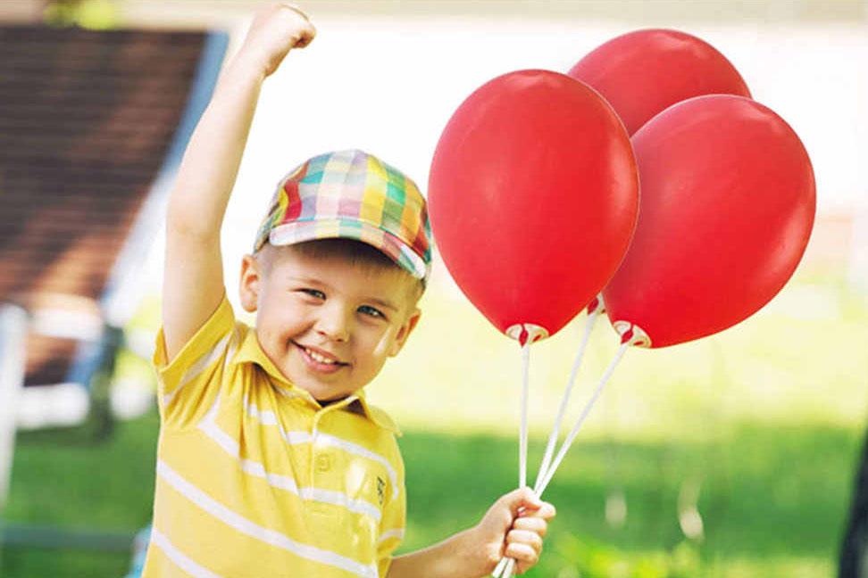 Шары на палочках с воздухом для раздачи Детский праздник