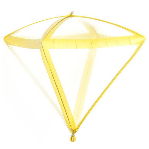 Шар 3D 51 см Алмаз Золотые грани Прозрачный