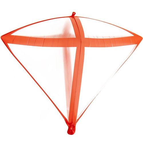 Шар 3D 51 см Алмаз Красные грани Прозрачный