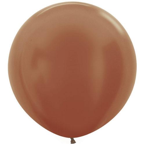 Шар 61 см Медный Металлик