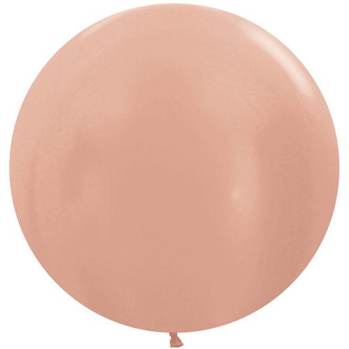 Шар 61 см Розовое золото Металлик