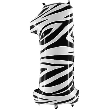 Шар 102 см Цифра 1 Zebra Зебра