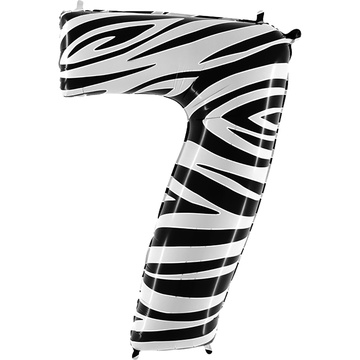 Шар 102 см Цифра 7 Zebra Зебра