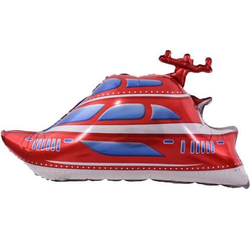 Шар 33 см Мини-фигура Яхта Красный
