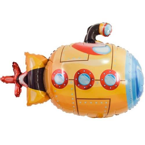 Шар 36 см Мини-фигура Подводная лодка Оранжевый