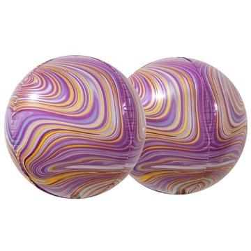 Шар 38 см 3D СФЕРА Мрамор Purple