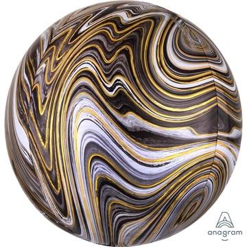 Шар 41 см 3D СФЕРА Мрамор Black