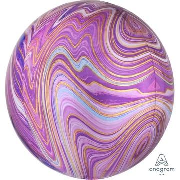 Шар 41 см 3D СФЕРА Мрамор Purple