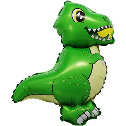 Шар 43 см Мини-фигура Динозавр Т-Рекс Зеленый