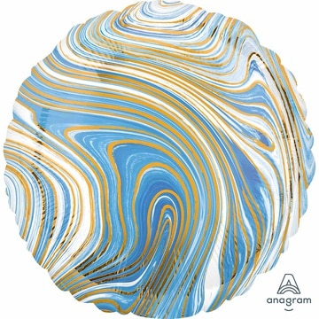 Шар 46 см Круг Мрамор Blue