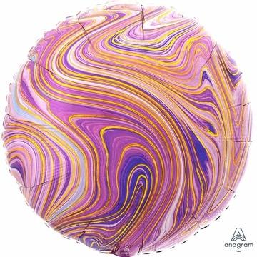 Шар 46 см Круг Мрамор Purple