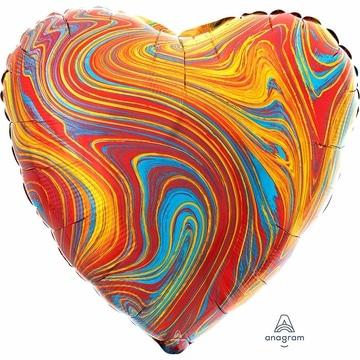 Шар 46 см Сердце Мрамор Colorful