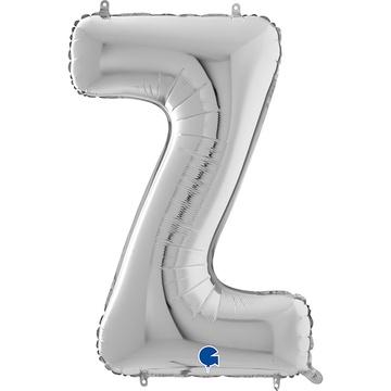 Шар 66 см Буква Z Серебро