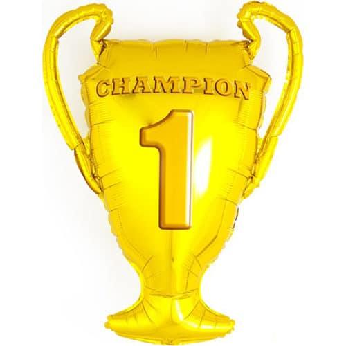 Шар 71 см Фигура Кубок Чемпионов Золото