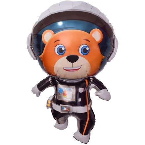 Шар 89 см Фигура Медвежонок Космонавт