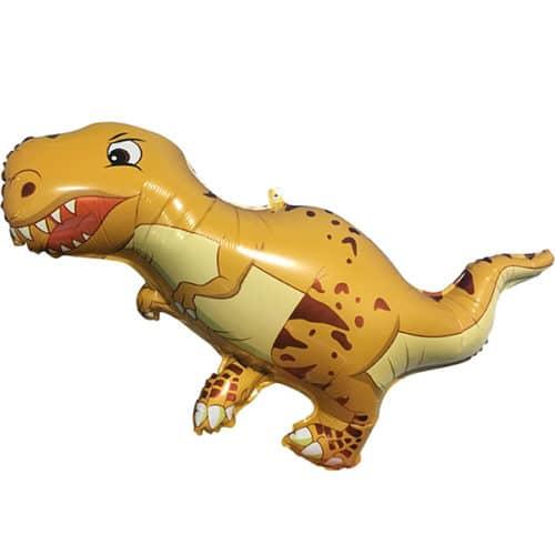Шар 97 см Фигура Динозавр Тираннозавр Коричневый