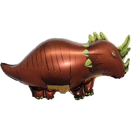 Шар 97 см Фигура Динозавр Трицератопс Коричневый