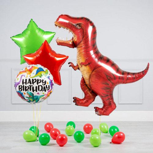 Комплект из шаров Тиранозавр Звезды и шары на пол