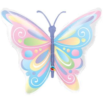 Шар 100 см Фигура Бабочка пастель