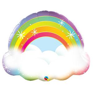 Шар 81 см Фигура Радуга в облаках