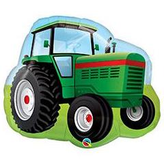 Шар 86 см Фигура Трактор зеленый