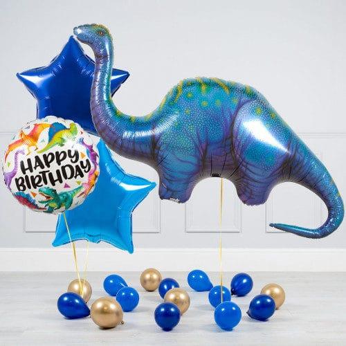 Комплект из шаров Динозавр Диплодок Звезды и шары на пол.j