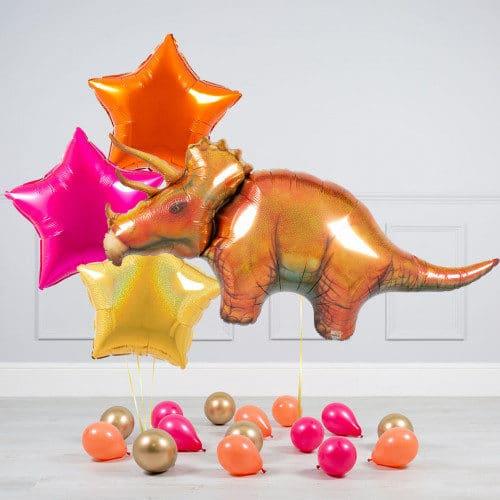 Комплект из шаров Динозавр Трицератопс Звезды и шары на пол