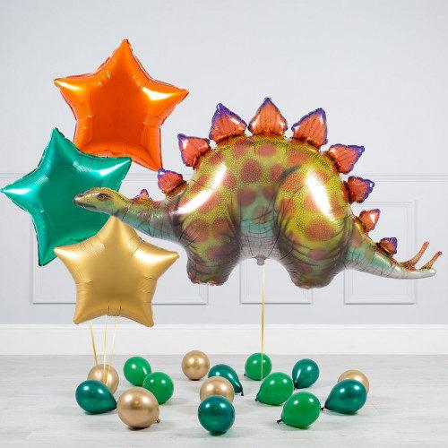 Комплект из шаров Дино Звезды и шары на пол